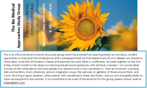 BioMedical Approaches Study Group @ The Gathering Place | Oshawa | Ontario | Canada